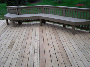 Composite deck composite deck stain behr for Staining trex decking